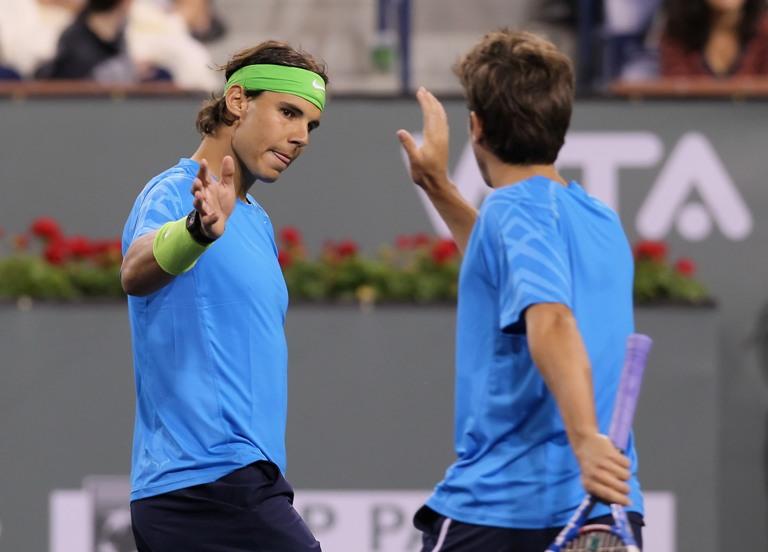 Rafaelis Nadalis ir Marcas Lopezas AFP/Scanpix nuotr.