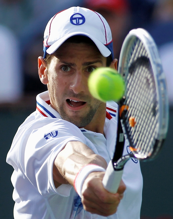 """Novakas Džokovičius siekia trečio """"BNP Paribas Open"""" čempiono titulo. REUTERS/Scanpix nuotr."""
